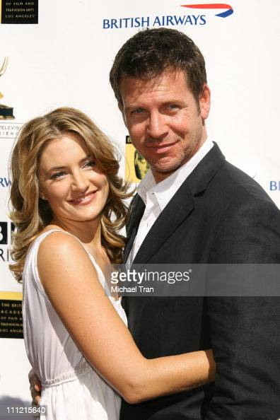 Actress Madchen Amick and husband David Alexis arrives at the BAFTA/LA 5th Annual Tea Party at Wattles Mansion on September 15 2007 in Hollywood...