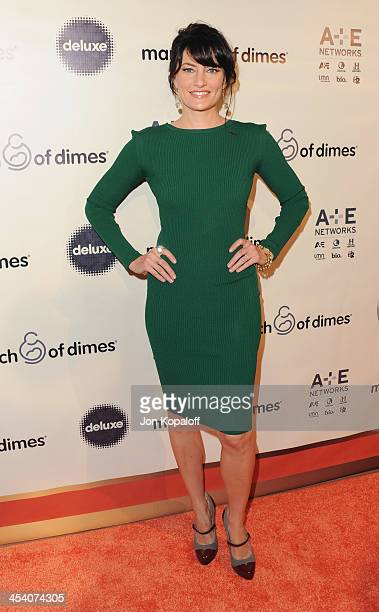 Actress Madchen Amick arrives at the March Of Dimes' Celebration Of Babies Hollywood Luncheon at Beverly Hills Hotel on December 6 2013 in Beverly...