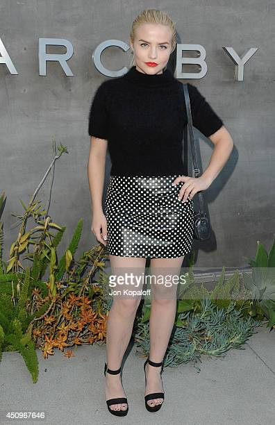 Actress Maddie Hasson attends Marc By Marc Jacobs Fall/Winter 2014 Preview at Marc Jacobs on June 20 2014 in Los Angeles California