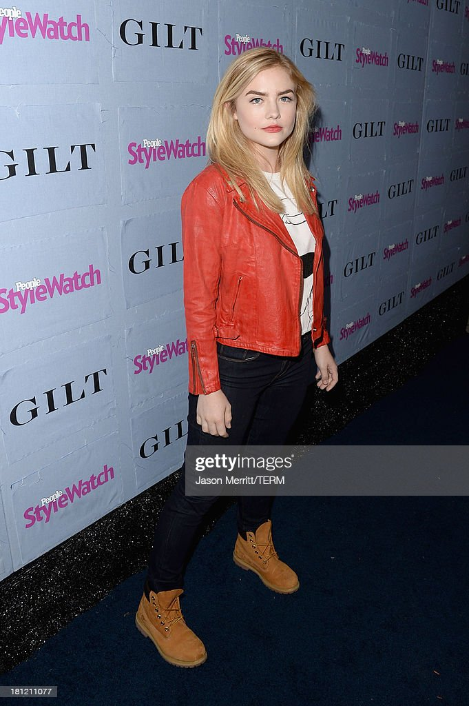 Actress <a gi-track='captionPersonalityLinkClicked' href=/galleries/search?phrase=Maddie+Hasson&family=editorial&specificpeople=8022958 ng-click='$event.stopPropagation()'>Maddie Hasson</a> attends People StyleWatch Denim Awards presented by GILT at Palihouse on September 19, 2013 in West Hollywood, California.
