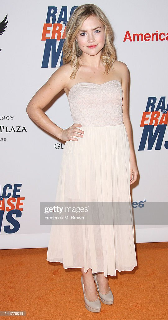 Actress Maddie Hasson attends the 19th Annual Race To Erase MS - 'Glam Rock To Erase MS' event at the Hyatt Regency Century Plaza on May 18, 2012 in Century City, California.