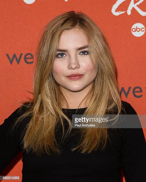 Actress Maddie Hasson attends the launch of Crush by ABC Family at The London Hotel on November 6 2013 in West Hollywood California