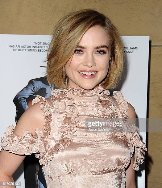 Actress Maddie Hasson attends the premiere of 'I Saw The Light' at the Egyptian Theatre on March 22 2016 in Hollywood California