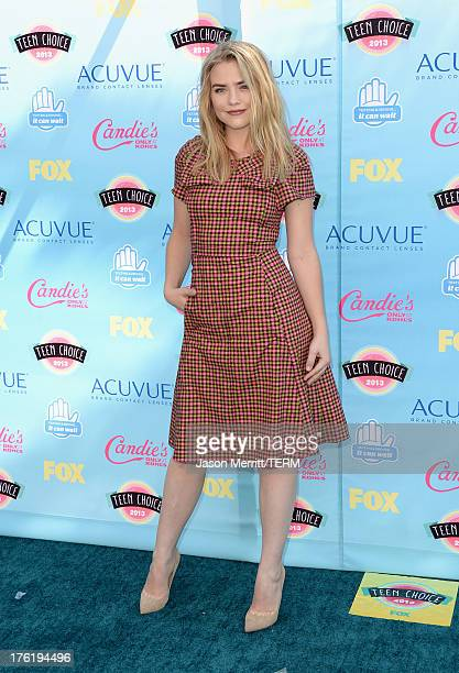 Actress Maddie Hasson attends the Teen Choice Awards 2013 at Gibson Amphitheatre on August 11 2013 in Universal City California