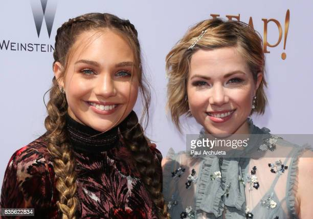 Actress Maddie Ziegler and Singer Carly Rae Jepsen attend the premiere of 'Leap' at the Pacific Theatres at The Grove on August 19 2017 in Los...