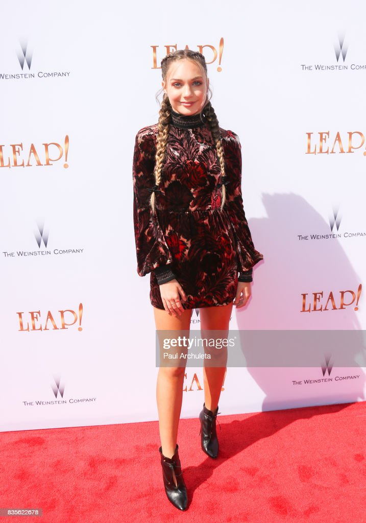 Actress Maddie Ziegler attends the premiere of 'Leap!' at the Pacific Theatres at The Grove on August 19, 2017 in Los Angeles, California.