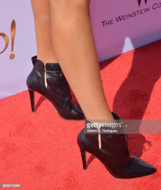 Actress Maddie Ziegler shoe detail attends the premiere of The Weinstein Company's 'Leap' at the Pacific Theatres at The Grove on August 19 2017 in...