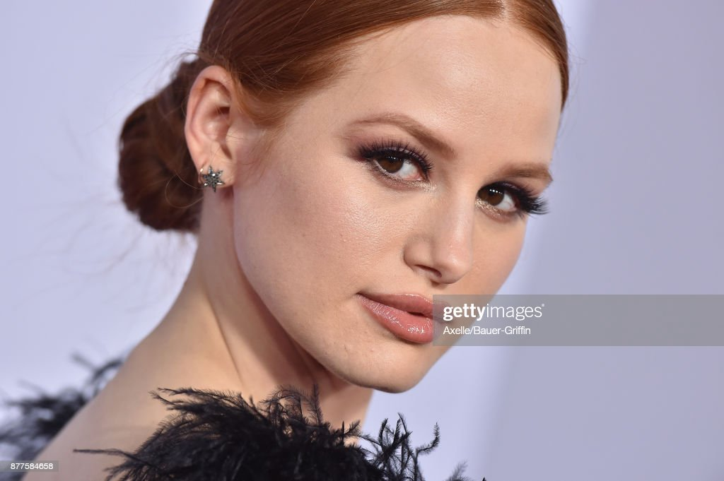 Actress Madelaine Petsch arrives at the 2017 American Music Awards at Microsoft Theater on November 19, 2017 in Los Angeles, California.