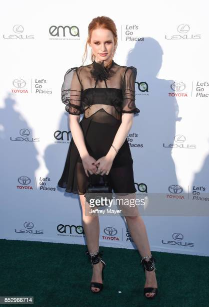 Actress Madelaine Petsch arrives at the 27th Annual EMA Awards at Barker Hangar on September 23 2017 in Santa Monica California