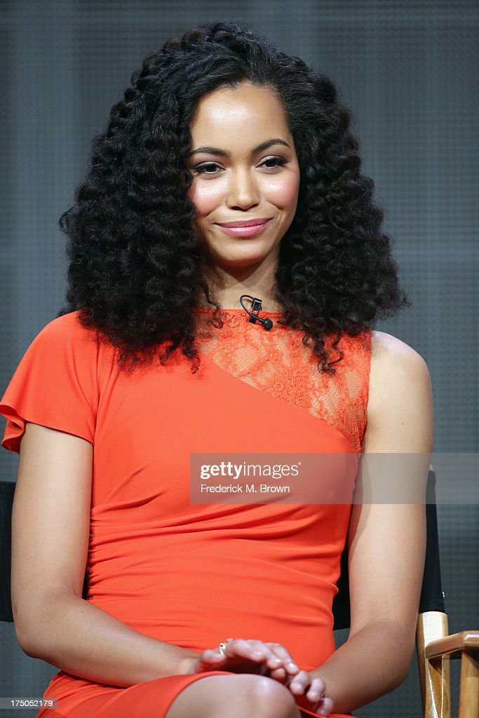 Actress Madeleine Mantock speaks onstage during 'The Tomorrow People' panel discussion at the CBS, Showtime and The CW portion of the 2013 Summer Television Critics Association tour at the Beverly Hilton Hotel on July 30, 2013 in Beverly Hills, California.