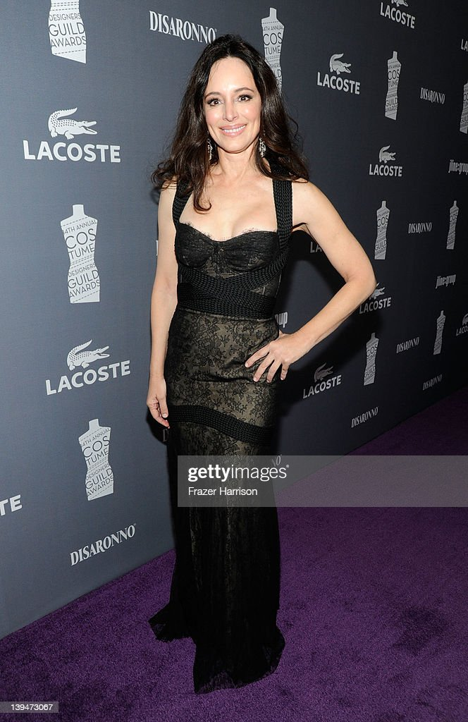 Actress Madeleine Stowe arrives at the 14th Annual Costume Designers Guild Awards With Presenting Sponsor Lacoste held at The Beverly Hilton hotel on February 21, 2012 in Beverly Hills, California.