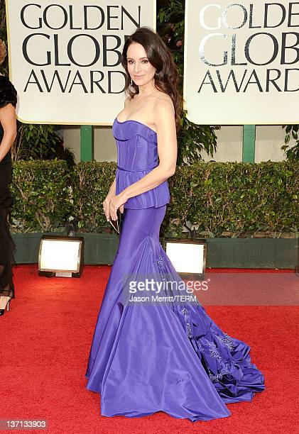 Actress Madeleine Stowe arrives at the 69th Annual Golden Globe Awards held at the Beverly Hilton Hotel on January 15 2012 in Beverly Hills California