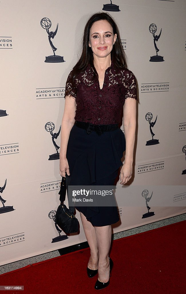 Actress Madeleine Stowe arrives at the Academy of Television Arts & Sciences Presents An Evening With 'Revenge' at the Leonard H. Goldenson Theater held at the Academy of Television Arts & Sciences on March 4, 2013 in North Hollywood, California.