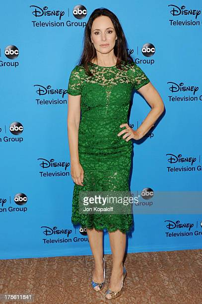 Actress Madeleine Stowe arrives at the Disney/ABC Party 2013 Television Critics Association's Summer Press Tour at The Beverly Hilton Hotel on August...