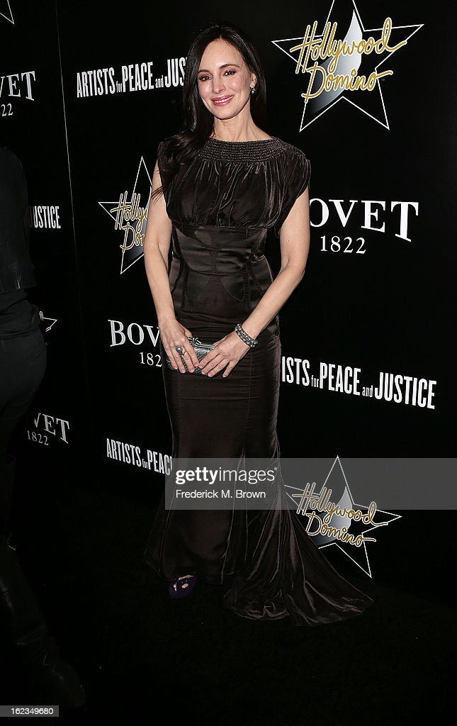 Actress Madeleine Stowe attends Hollywood Domino And Bovet 1822 Gala Benefiting Artists For Peace And Justice at the Sunset Tower Hotel on February 21, 2013 in West Hollywood, California.