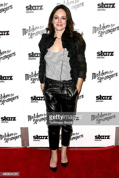 Actress Madeleine Stowe attends the 'Mistaken For Strangers' Los Angeles premiere held at The Shrine Auditorium on March 25 2014 in Los Angeles...