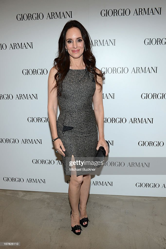 Actress Madeleine Stowe, wearing Giorgio Armani attends the Giorgio Armani Beauty Luncheon on December 6, 2012 in Beverly Hills, California.