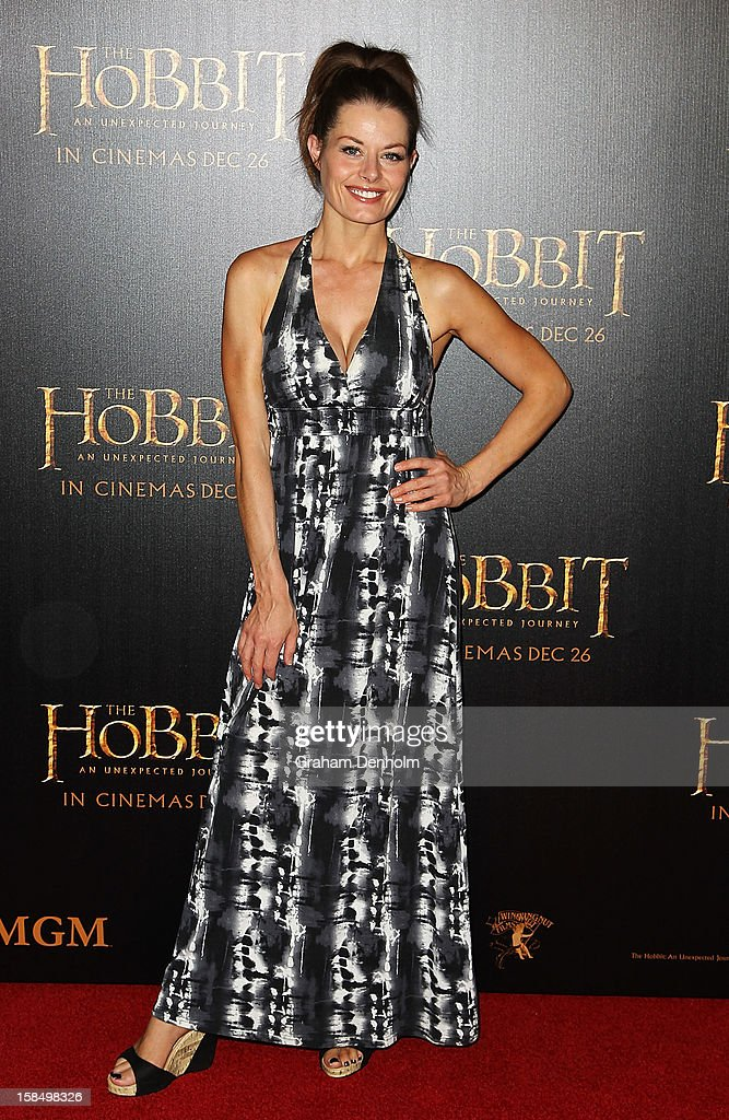 Actress Madeleine West attends the Melbourne premiere of 'The Hobbit: An Unexpected Journey' at Village Cinemas on December 18, 2012 in Melbourne, Australia.