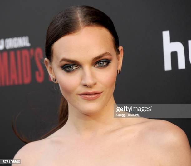 Actress Madeline Brewer arrives at the premiere of Hulu's 'The Handmaid's Tale' at ArcLight Cinemas Cinerama Dome on April 25 2017 in Hollywood...