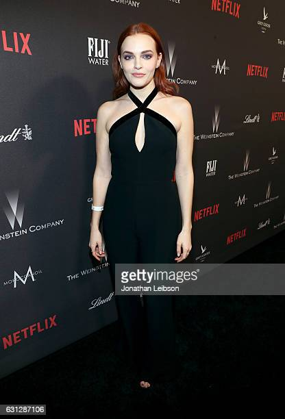 Actress Madeline Brewer at The Weinstein Company and Netflix Golden Globes Party presented with FIJI Water at The Beverly Hilton Hotel on January 8...