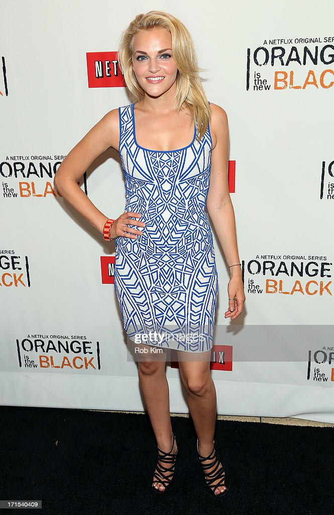 Actress <a gi-track='captionPersonalityLinkClicked' href=/galleries/search?phrase=Madeline+Brewer&family=editorial&specificpeople=10835741 ng-click='$event.stopPropagation()'>Madeline Brewer</a> attends 'Orange Is The New Black' New York Premiere at The New York Botanical Garden on June 25, 2013 in New York City.