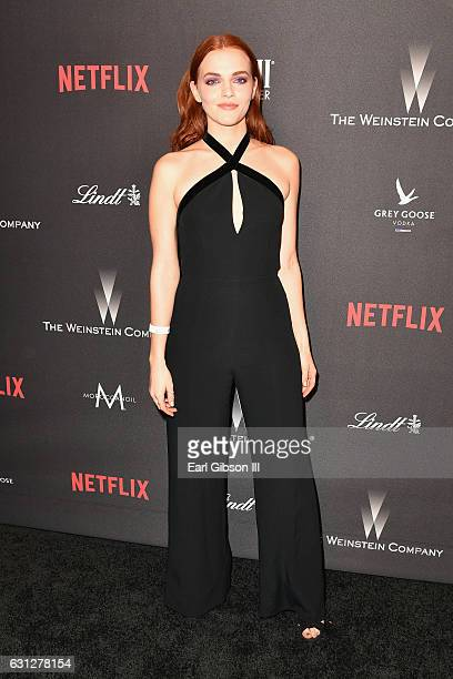 Actress Madeline Brewer attends The Weinstein Company and Netflix Golden Globe Party presented with FIJI Water Grey Goose Vodka Lindt Chocolate and...