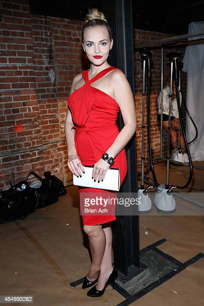 Actress Madeline Brewer poses backstage at the Nolcha Fashion Week New York Spring Collections 2015 during NY Fashion Week at Eyebeam 540 West 21st...