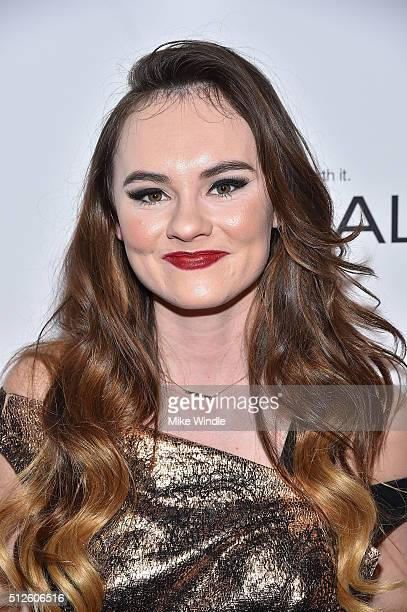 Actress Madeline Carroll attends Vanity Fair L'Oreal Paris Hailee Steinfeld host DJ Night at Palihouse Holloway on February 26 2016 in West Hollywood...