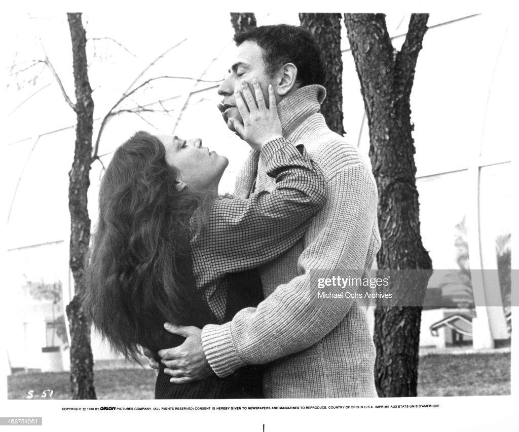 Actress Madeline Kahn and actor Alan Arkin on set the movie 'Simon' circa 1980