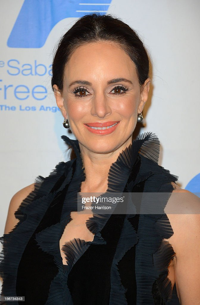 Actress Madeline Stowe arrives at The Saban Free Clinic's Gala Honoring ABC Entertainment Group President Paul Lee and Bob Broder at The Beverly Hilton Hotel on November 19, 2012 in Beverly Hills, California.