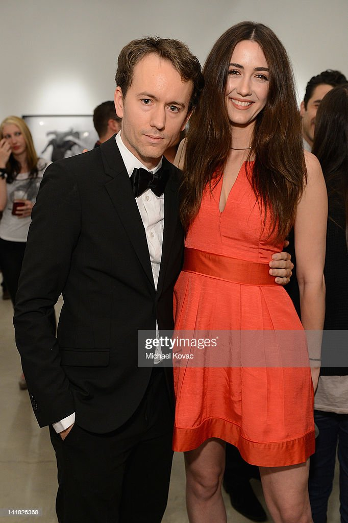 Actress Madeline Zima and artist Tyler Shields attends Tyler Shields debut of MOUTHFUL presented by A/X Armani Exchange in support of LOVE IS LOUDER...