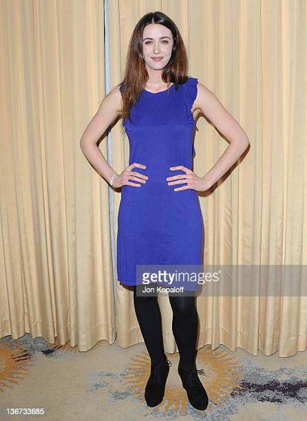 Actress Madeline Zima arrives at Forevermark And InStyle Golden Globes Event 'A Promise Of Beauty And Brilliance' at the Beverly Hills Hotel on...