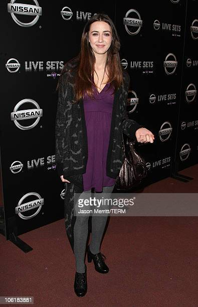 Actress Madeline Zima arrives at the Nissan Live Sets on Yahoo Music Anniversary Celebration at FOX Studios Lot on November 27 2007 in Century City...