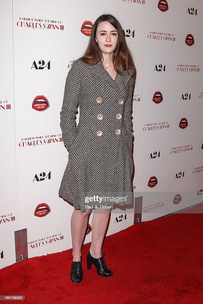 Actress Madeline Zima arrives at the premiere of A24's 'A Glimpse Inside The Mind of Charles Swan III' held at the ArcLight Hollywood on February 4, 2013 in Hollywood, California.