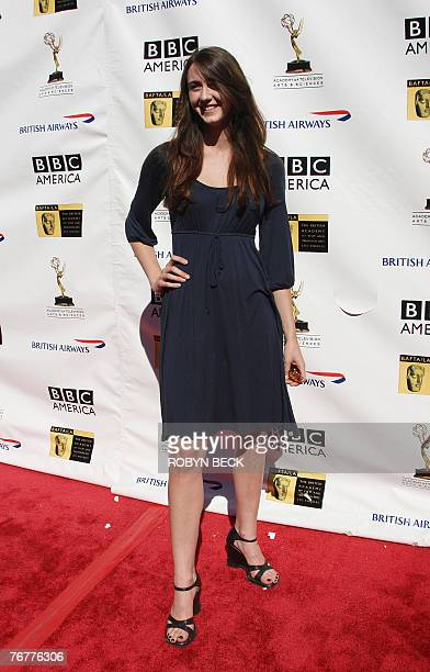 US actress Madeline Zima arrives for a preEmmy Awards tea party hosted by the British Academy of Film Television Arts/Los Angeles and the Academy of...