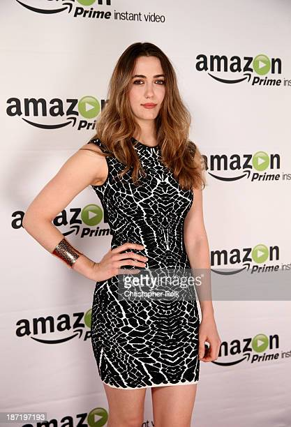 Actress Madeline Zima attends the Amazon Studios Launch Party to celebrate the premieres of their 1st original series' 'Alpha House' and 'Betas' at...