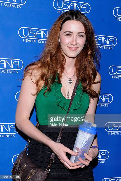 Actress Madeline Zima poses with USANA during Kari Feinstein MTV Movie Awards Style Lounge at W Hollywood on June 2 2011 in Hollywood California