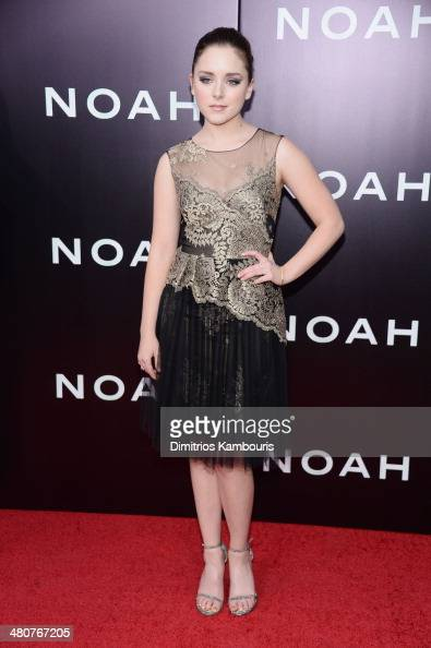 Actress Madison Davenport attends the 'Noah' New York premiere at Ziegfeld Theatre on March 26 2014 in New York City