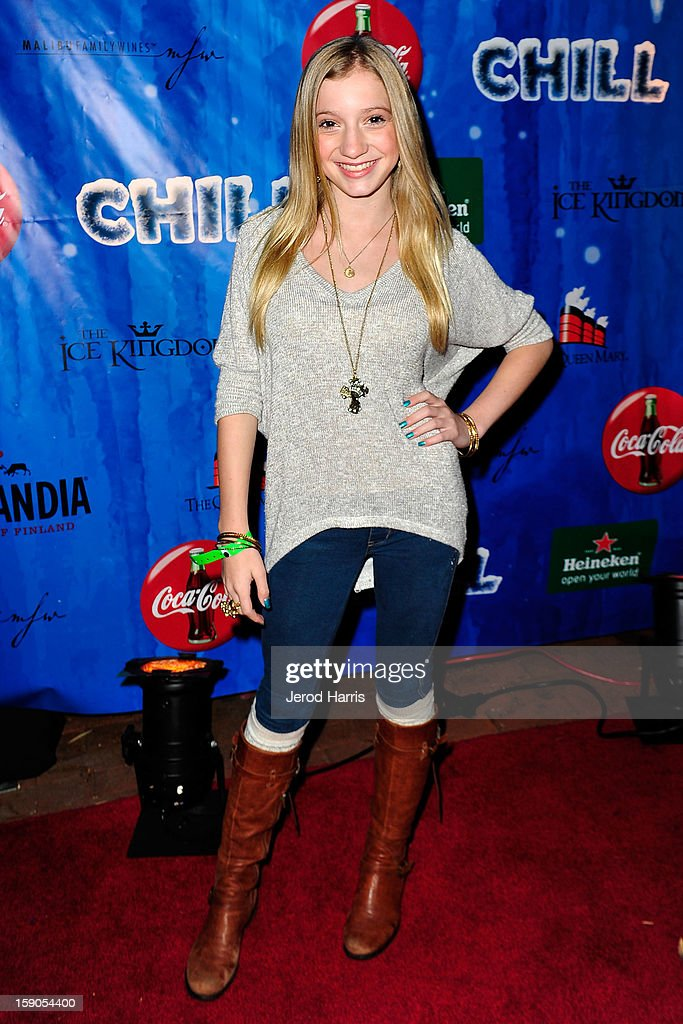 Actress Madison Leisle arrives at the CHILL-OUT closing night concert at The Queen Mary on January 6, 2013 in Long Beach, California.