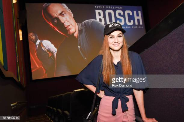 Actress Madison Lintz attends the Amazon Original Series 'BOSCH' Special Advance Screening at Regal Atlantic Station on April 12 2017 in Atlanta...
