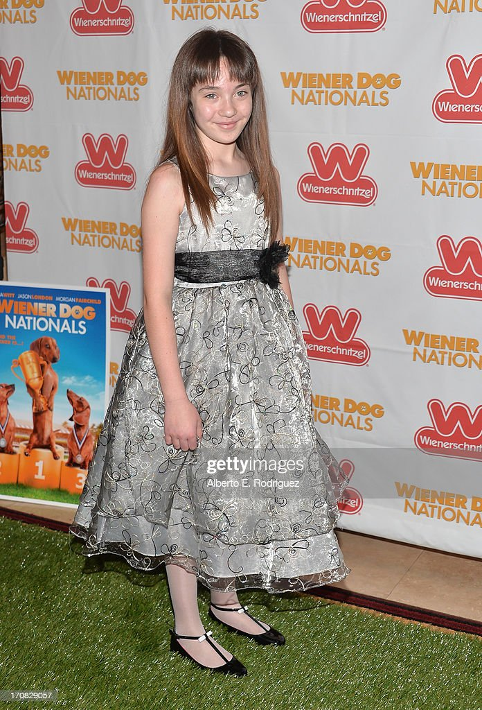 Actress Madison Mier arrives to the Premiere of 'Wiener Dog Nationals' at Pacific Theatre at The Grove on June 18, 2013 in Los Angeles, California.