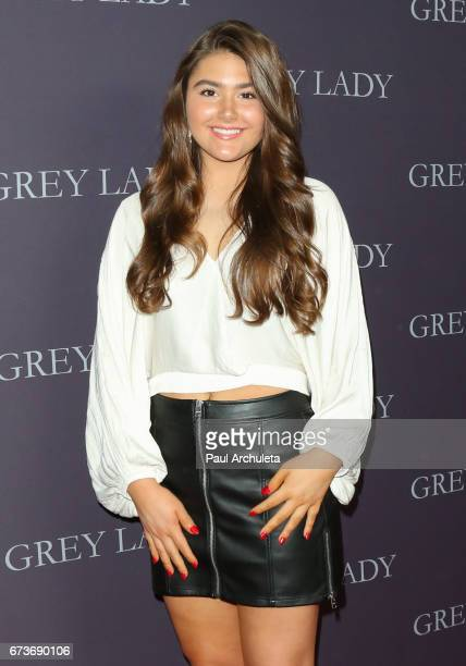 Actress Madison Moore attends the premiere of 'Grey Lady' at The Landmark Theater on April 26 2017 in Los Angeles California