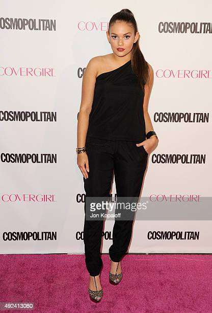 Actress Madison Pettis arrives at Cosmopolitan Magazine's 50th Birthday Celebration at Ysabel on October 12 2015 in West Hollywood California