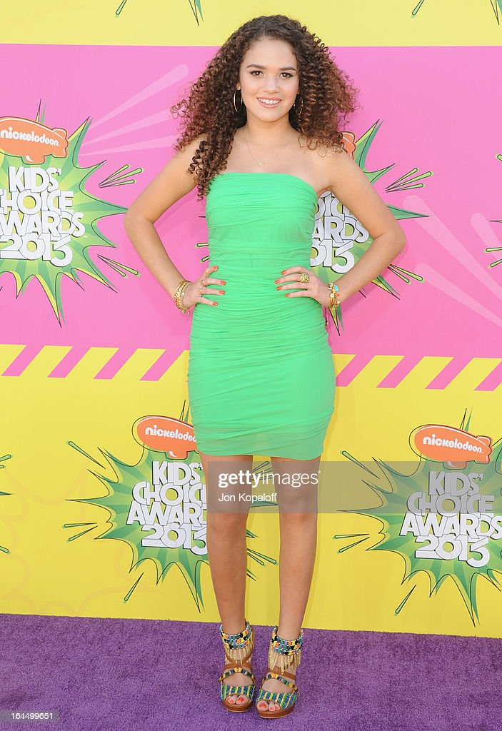 Actress Madison Pettis arrives at Nickelodeon's 26th Annual Kids' Choice Awards at USC Galen Center on March 23, 2013 in Los Angeles, California.
