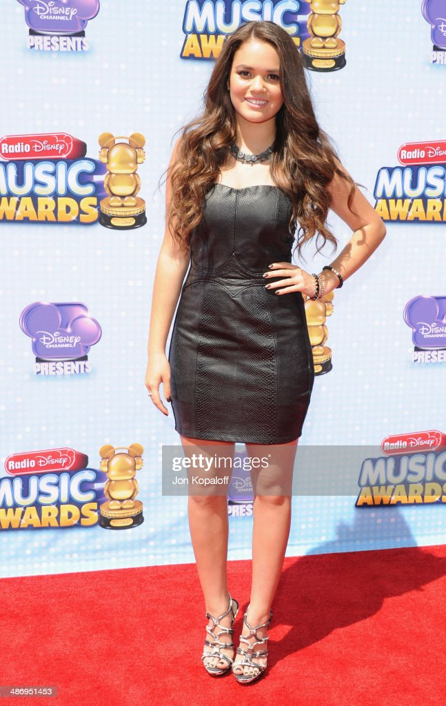 Actress <a gi-track='captionPersonalityLinkClicked' href=/galleries/search?phrase=Madison+Pettis&family=editorial&specificpeople=4102126 ng-click='$event.stopPropagation()'>Madison Pettis</a> arrives at the 2014 Radio Disney Music Awards at Nokia Theatre L.A. Live on April 26, 2014 in Los Angeles, California.