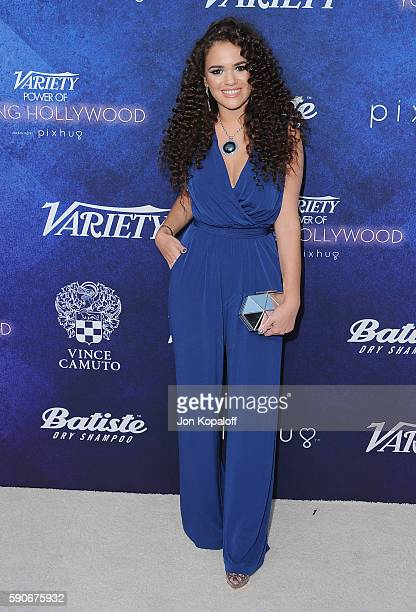 Actress Madison Pettis arrives at Variety's Power Of Young Hollywood at NeueHouse Hollywood on August 16 2016 in Los Angeles California
