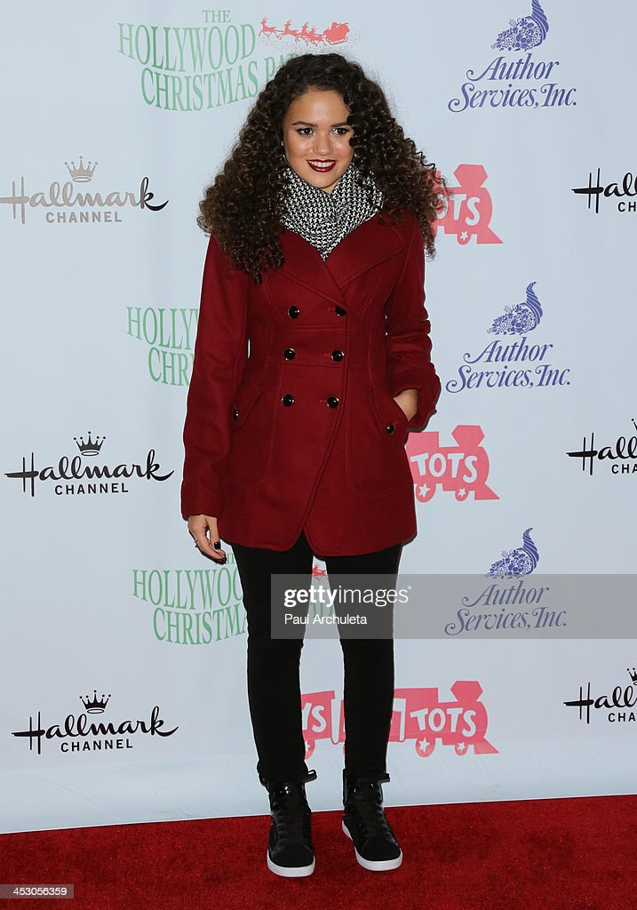 Actress Madison Pettis attends The Hollywood Christmas Parade benefiting the Toys For Tots Foundation on December 1, 2013 in Hollywood, California.