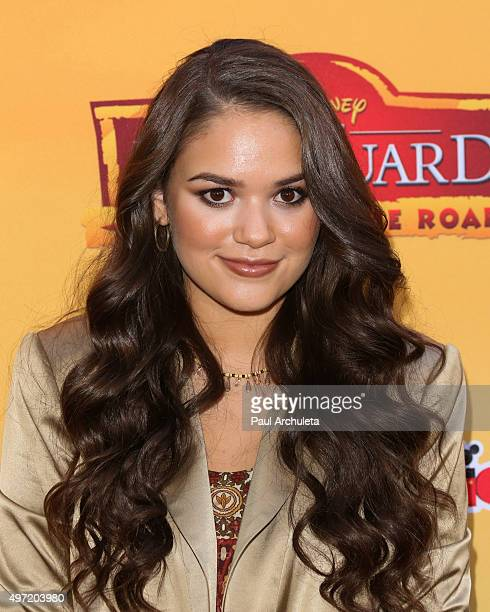 Actress Madison Pettis attends the premiere of Disney Channel's 'The Lion Guard Return Of The Roar' at Walt Disney Studios on November 14 2015 in...
