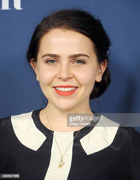 Actress Mae Whitman arrives at the NBC And Vanity Fair 20142015 TV Season Red Carpet Media Event at HYDE Sunset Kitchen Cocktails on September 16...