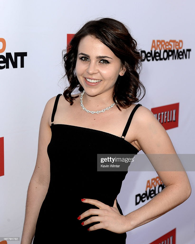 Actress Mae Whitman arrives at the premiere of Netflix's 'Arrested Development' Season 4 at the Chinese Theatre on April 29, 2013 in Los Angeles, California.